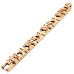 French Retro Gold Link Bracelet