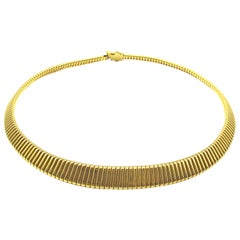 French Retro Gold Tubogaz Choker