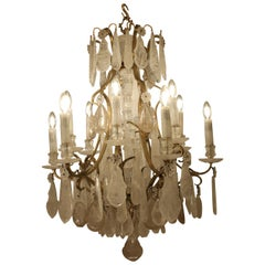 French Rock Crystal Chandelier, c1880