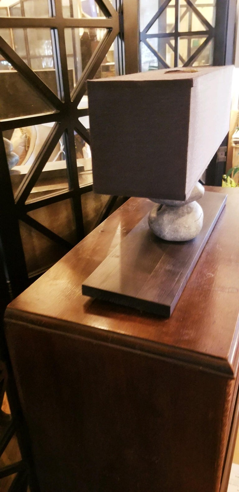 Stone French Rock Lamp For Sale