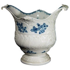 French Rococo Blue and White Porcelain Wine Cooler