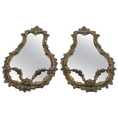 French Rococo Mirrors, Pair