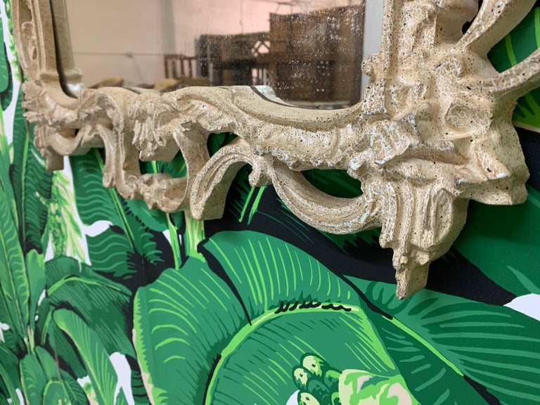 French Rococo Style Baroque Wall Mirror In Good Condition For Sale In Jacksonville, FL