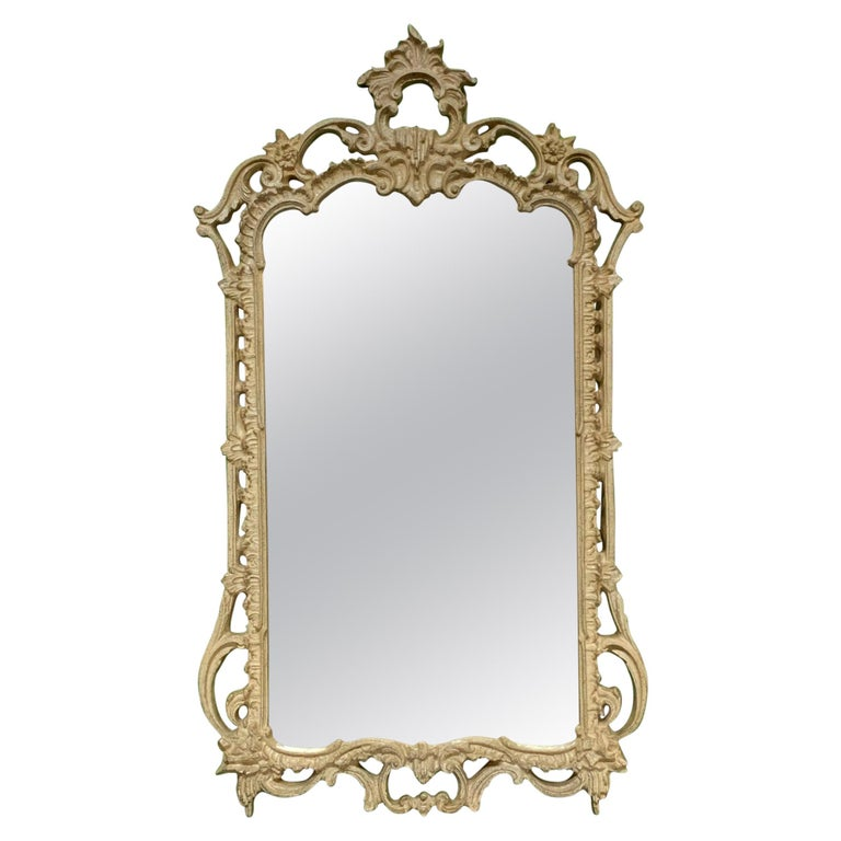 French Rococo Style Baroque Wall Mirror For Sale