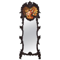 French Rococo Style Full Length Trumeau Mirror, 1920s