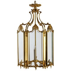 French Rococo Style Gilt Bronze Lantern