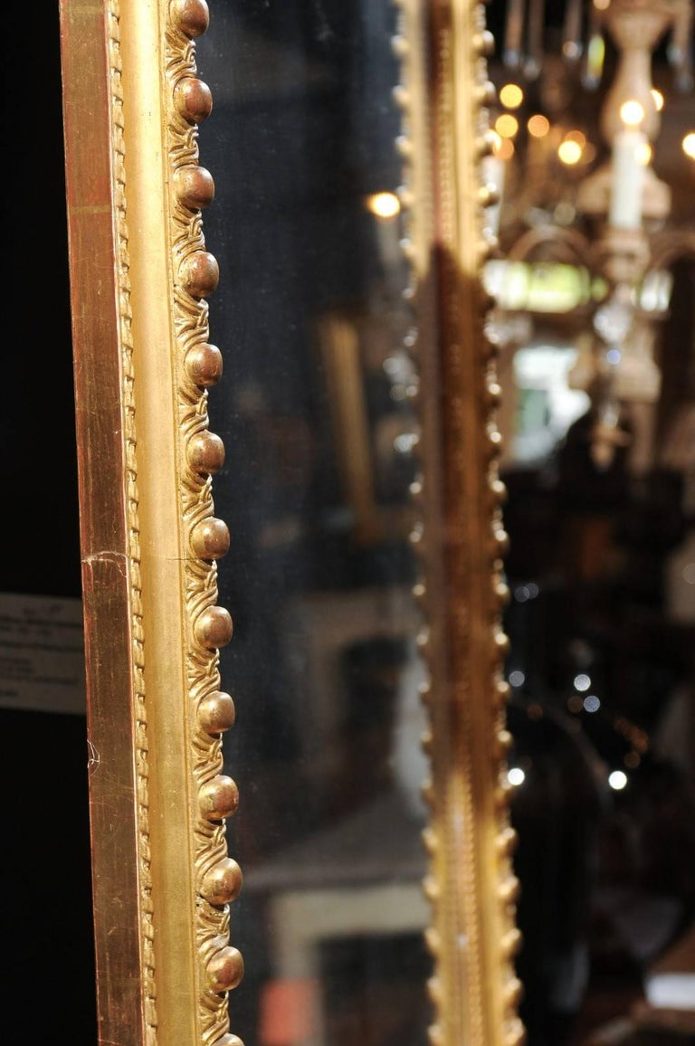 French Rococo Style Giltwood Mirror with Cartouche Carved Crest, 19th Century For Sale 8