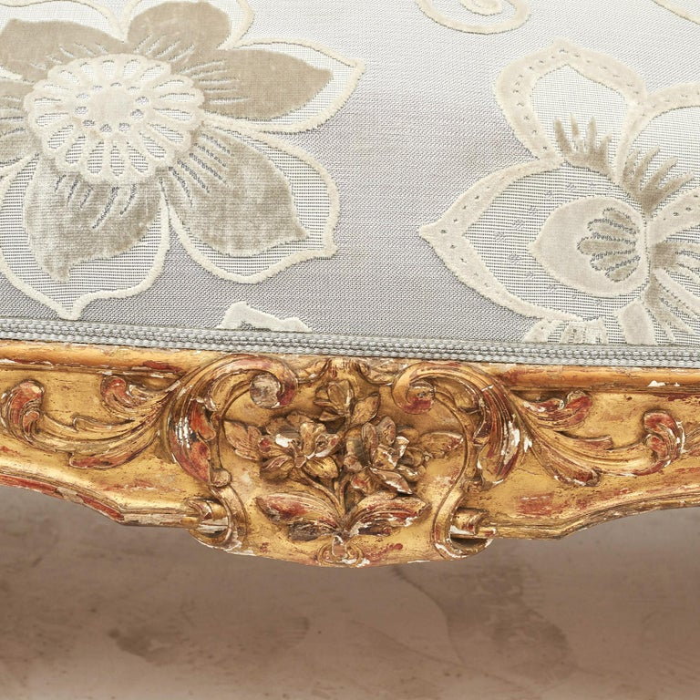 French Rococo Style Sofa Bench, circa 1850 For Sale 5