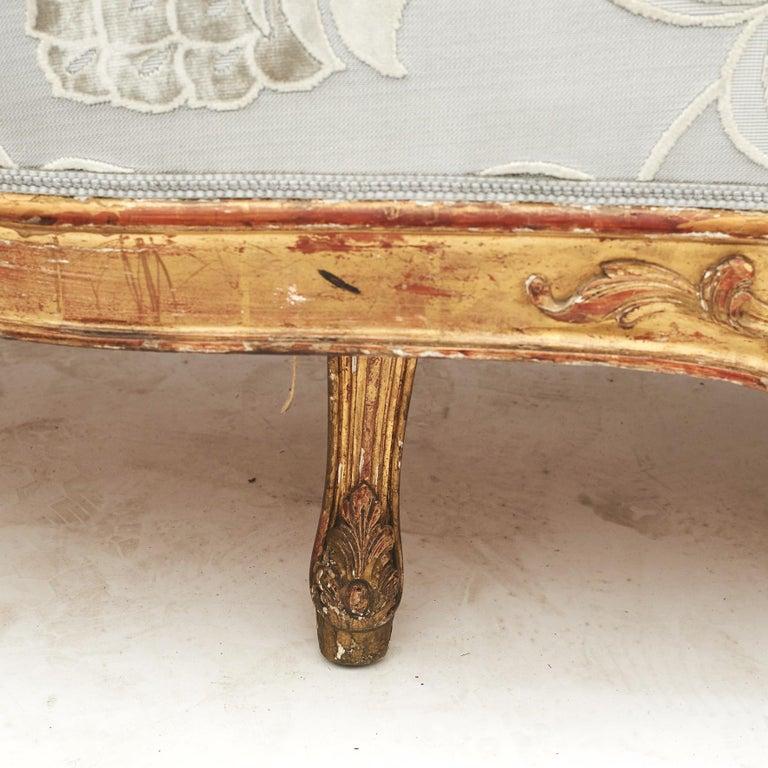 French Rococo Style Sofa Bench, circa 1850 For Sale 7
