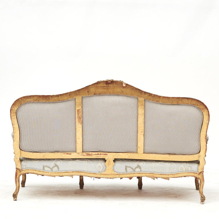 French Rococo Style Sofa Bench, circa 1850 For Sale 8