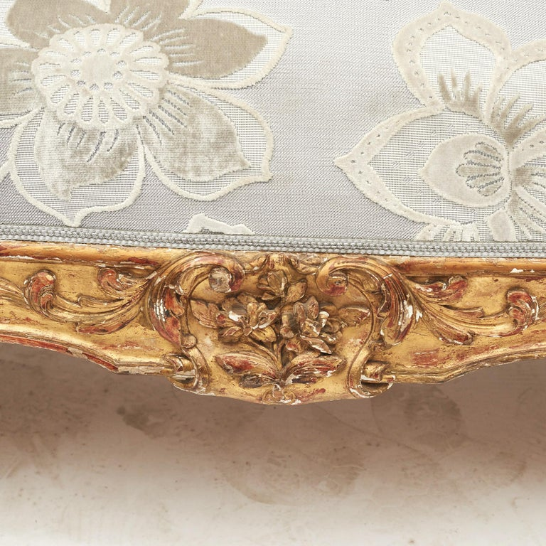 French Rococo Style Sofa Bench, circa 1850 For Sale 1