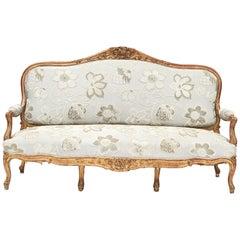 French Rococo Style Sofa Bench, circa 1850
