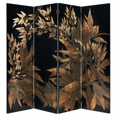 French Room Divider in Laque D'Argent