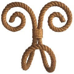 French Rope Hook Coat Audoux Minet, circa 1960