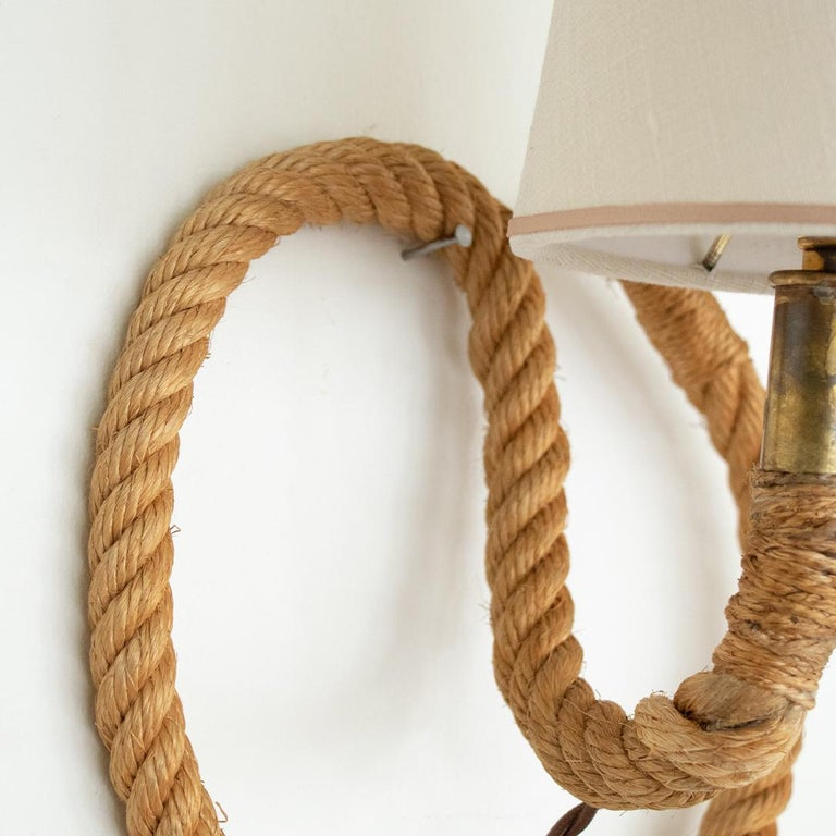 French Rope Sconce by Audoux Minet For Sale 2