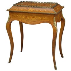 French Rosewood and Inlaid Jardinière