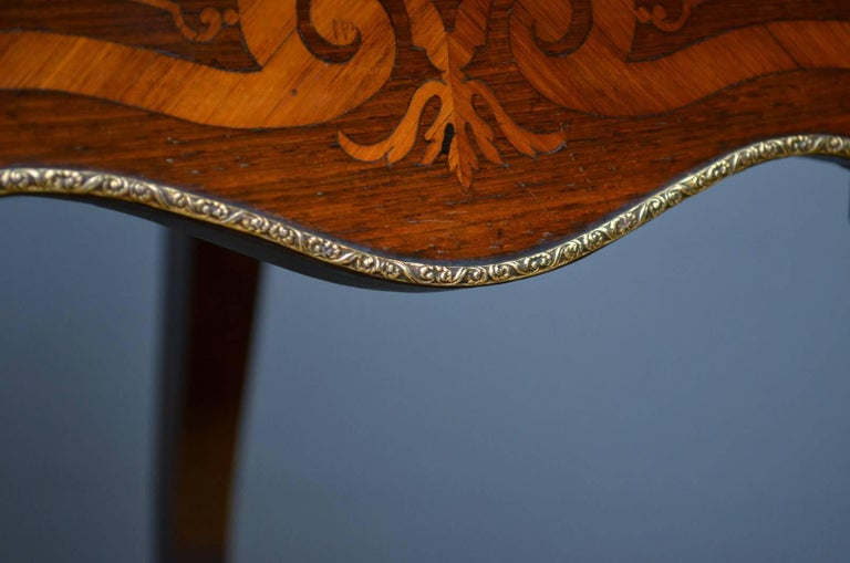 French Rosewood and Inlaid Jardinière Plant Stand For Sale 12