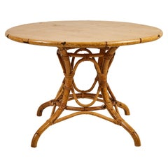French Round Bamboo Dining Table