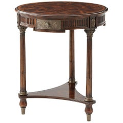 French Round Lamp Table