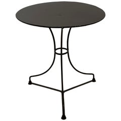 French Round Metal Bistro Table