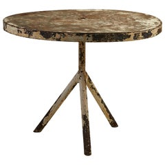 French Round Metal Table