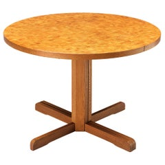 French Round Table with Inlayed Top