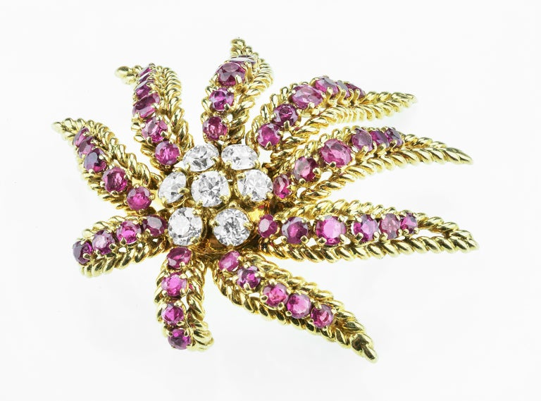 Women's French Ruby, Diamond Demi Parure by Verger Freres 'Cartier, Van Cleef & Arpels' For Sale
