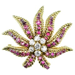 French Ruby, Diamond Demi Parure by Verger Frères 'Cartier, Van Cleef & Arpels'