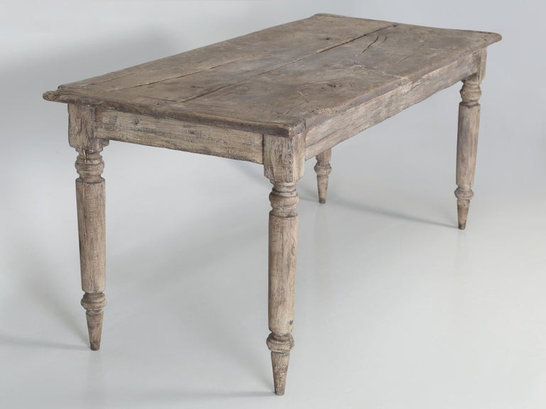 French Rustic Farm House Style Kitchen Or Dining Room Table From Old Parts For Sale At 1stdibs