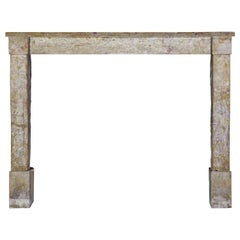French Rustic Hard Limestone Fireplace Surround