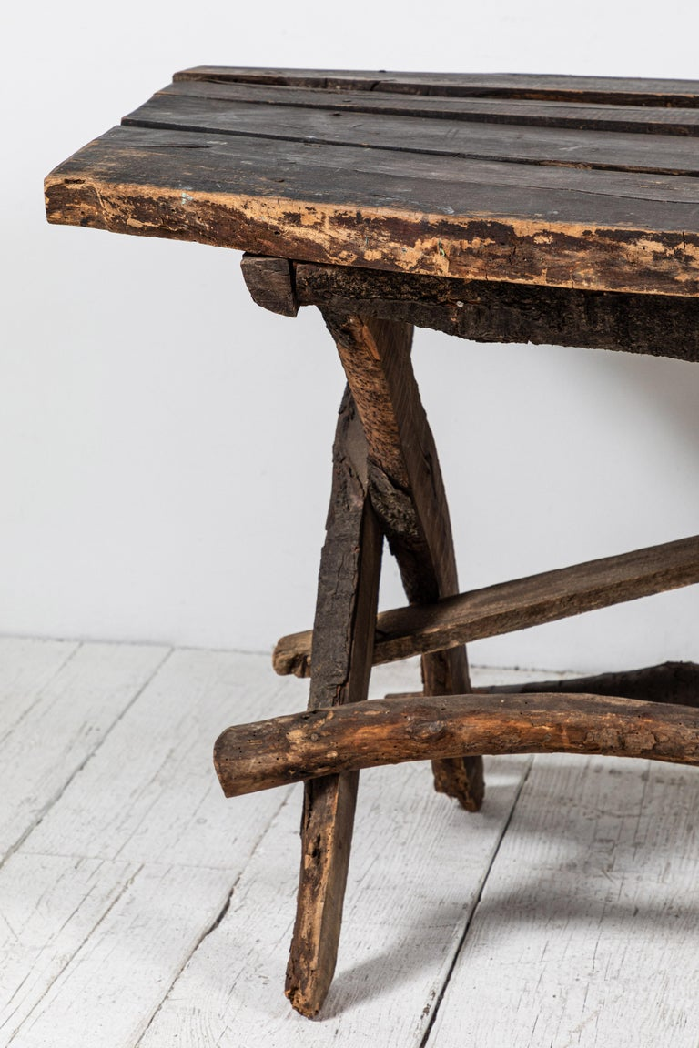 French Rustic Wooden Twig Table For Sale 3
