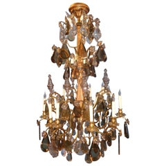 French Saint Louis Multicolored Crystal Chandelier, circa 1900