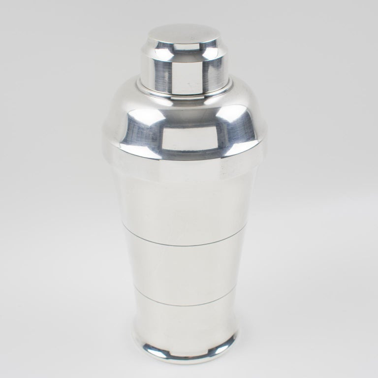French Saint Medard Paris Art Deco Silver Plate Cocktail or Martini Shaker For Sale 1