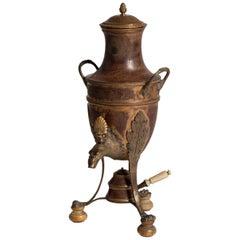 Französische Samowar-Kaffee Urne unterzeichnet Georges Falkenberg