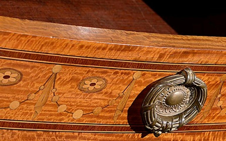 Late 19th Century French Satinwood and Marquetry Side Cabinet For Sale