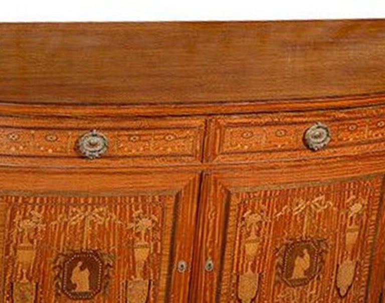 French Satinwood and Marquetry Side Cabinet For Sale 3