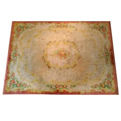 """213 - French """"Savonnerie"""" Aubusson Rug, 19th Century"""