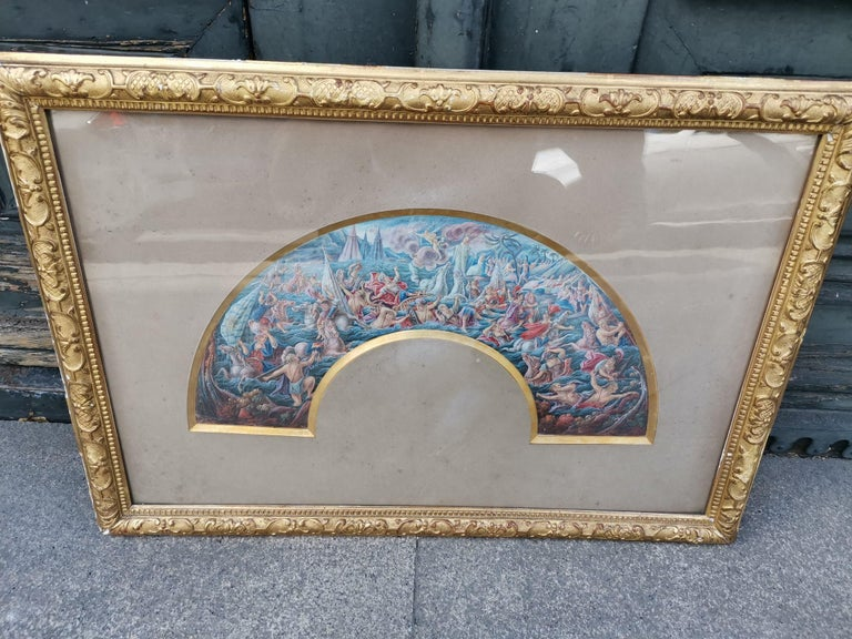French School 19th Century Watercolor For Sale 7