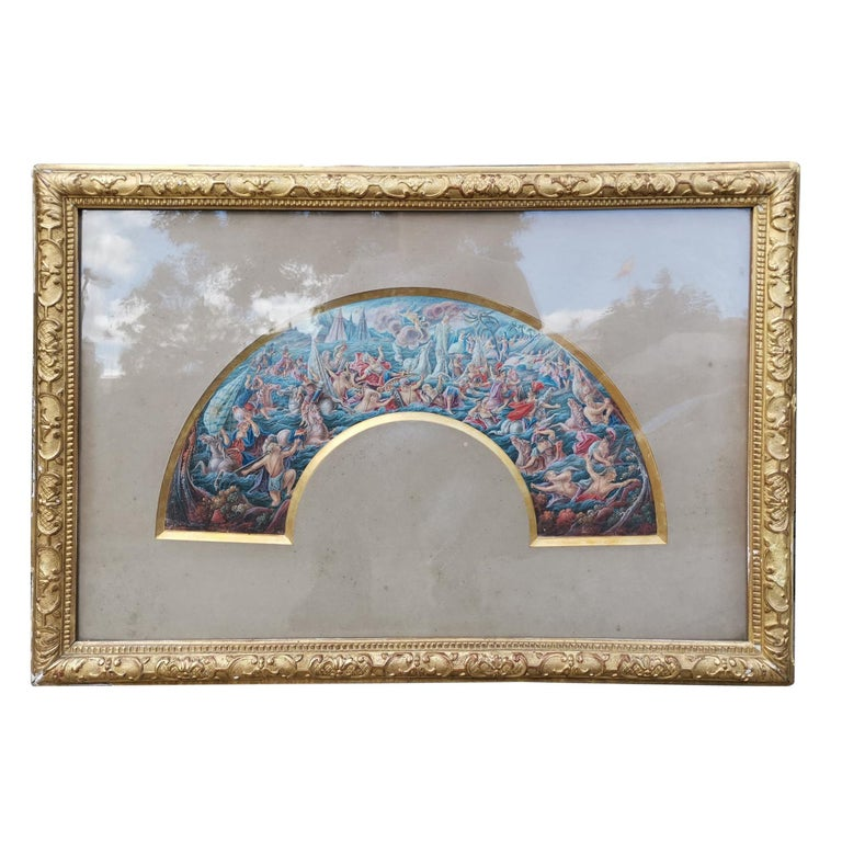 French School 19th Century Watercolor For Sale
