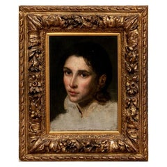 French School, Late 19th Century Oil on Canvas, Portrait of a Youth