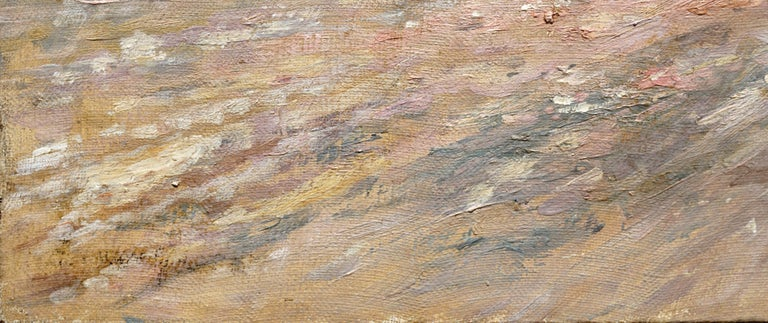 19th Century Brittany France Harbor Impressionist Landscape Scene For Sale 1