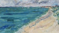 20th Century French Oil Painting A Breezy Day To Go Sailing