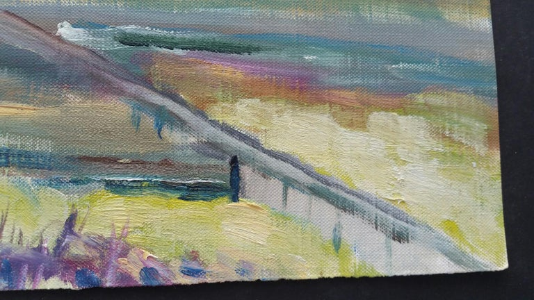 20th Century French Oil Painting A Summer Sea View For Sale 1