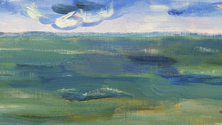 20th Century French Oil Painting A Summer Sea View For Sale 2
