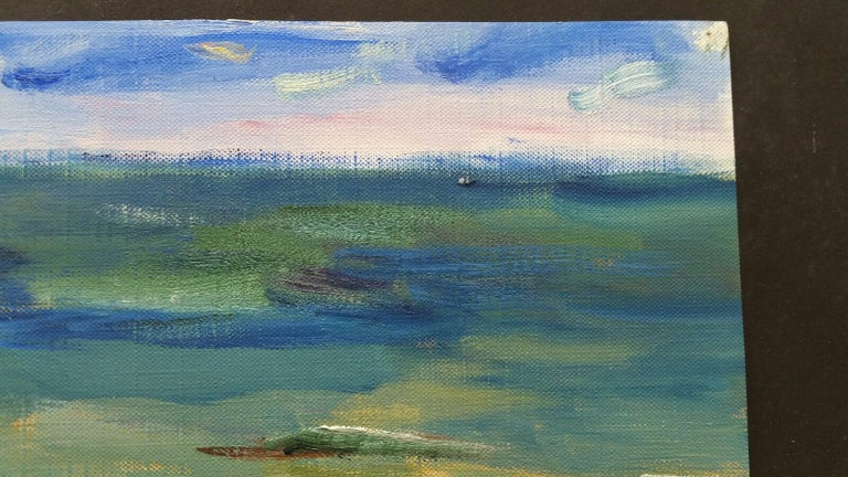 20th Century French Oil Painting A Summer Sea View For Sale 3
