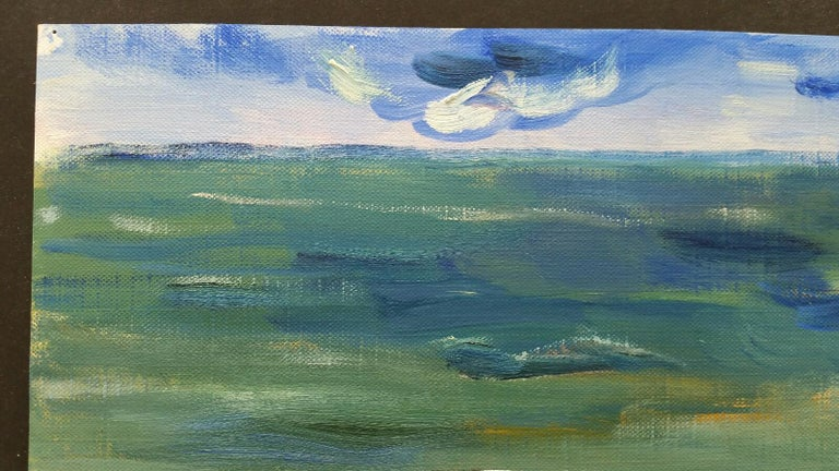 20th Century French Oil Painting A Summer Sea View For Sale 4