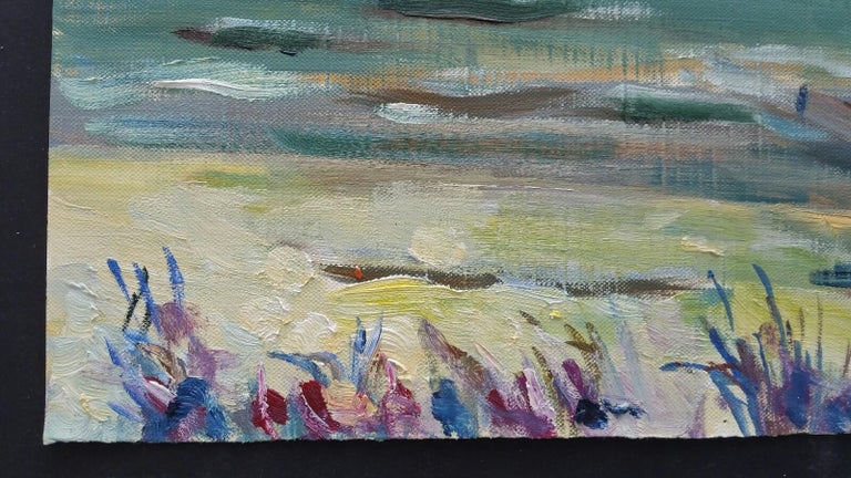 20th Century French Oil Painting A Summer Sea View For Sale 5