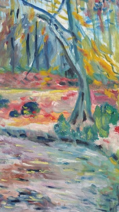 20th Century French Oil Painting Provence Woodland