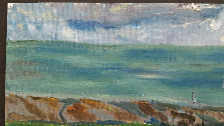 20th Century French Oil Painting Sails Below the Hay Field For Sale 2
