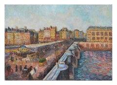 Le Market et Pont Neuf French Impressionist Landscape